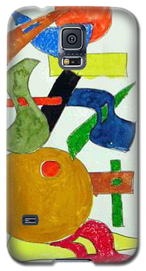 Watercolor Galaxy S5 Case featuring the mixed media Cosmic Collaboration by Natalee Parochka