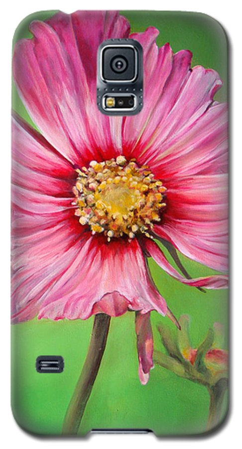 Floral Painting Galaxy S5 Case featuring the painting Cosmos by Dolemieux muriel