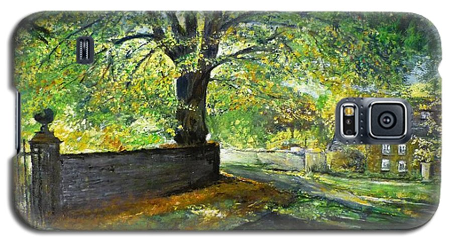 Landscape Galaxy S5 Case featuring the painting Cotswold Lane by Lizzy Forrester