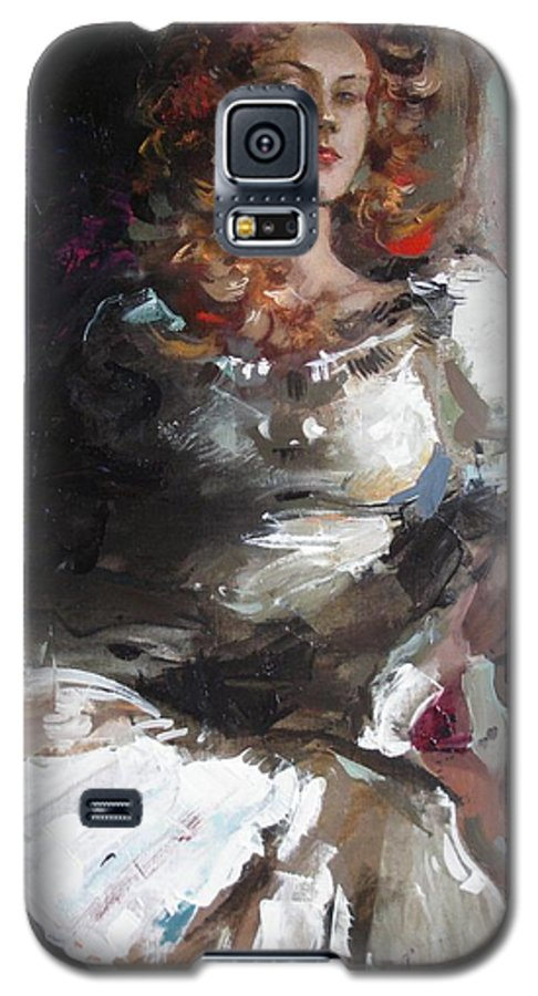 Ignatenko Galaxy S5 Case featuring the painting Countess by Sergey Ignatenko