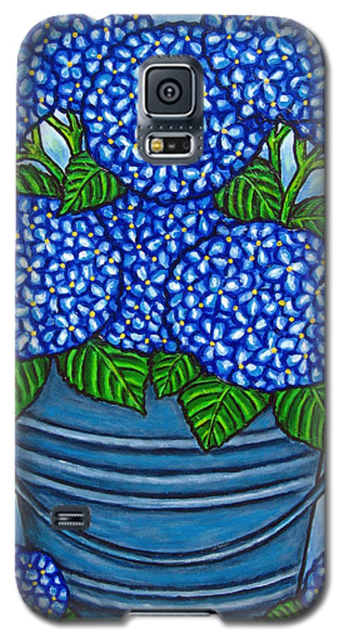 Blue Galaxy S5 Case featuring the painting Country Blues by Lisa Lorenz