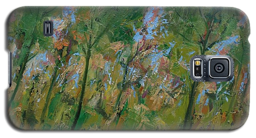 Trees Galaxy S5 Case featuring the painting Country Landscape by Mario Zampedroni