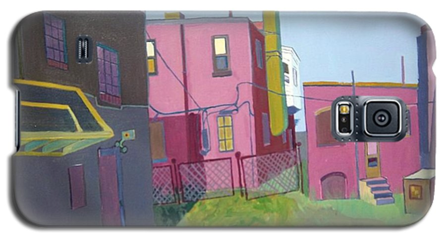 Alleyway Galaxy S5 Case featuring the painting Courtyard View by Debra Bretton Robinson