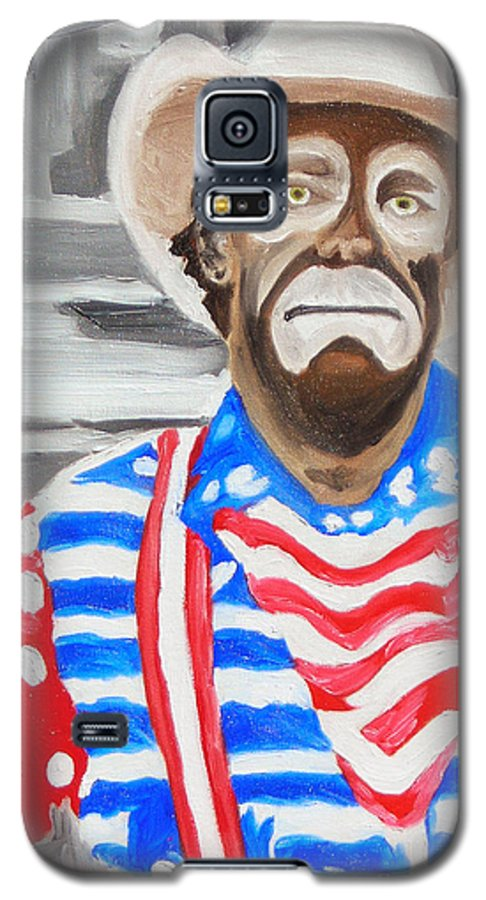 Rodeo Galaxy S5 Case featuring the painting Cowboy Savior by Michael Lee