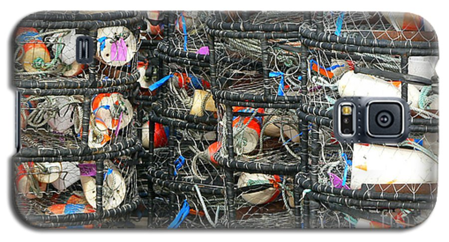 Crabs Galaxy S5 Case featuring the photograph Crab Traps by Larry Keahey