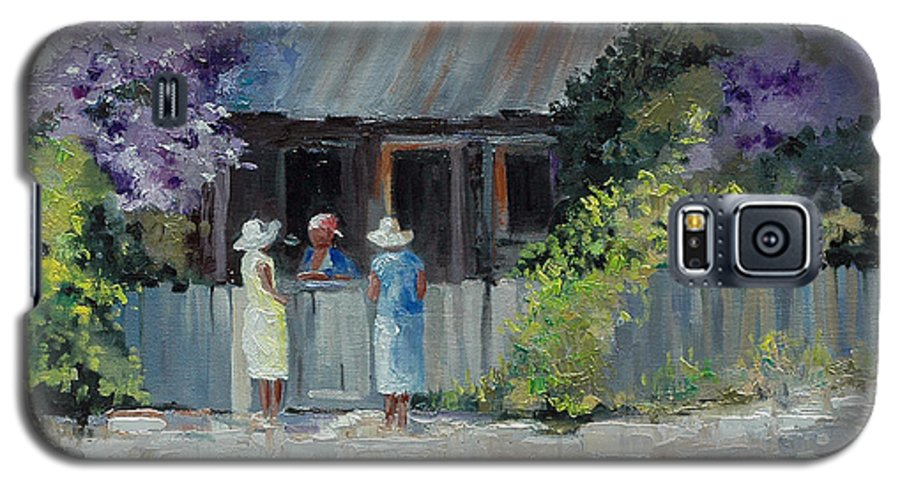 Floral Galaxy S5 Case featuring the painting Crape Myrtle And Ladies Of Darien by Glenn Secrest