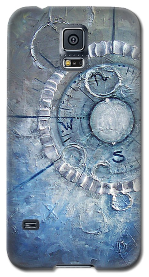 Contemporary Galaxy S5 Case featuring the painting Creation by Laura Sherrill