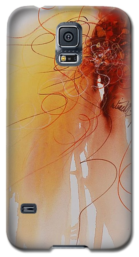 Creativity Galaxy S5 Case featuring the painting Creativity by Nadine Rippelmeyer