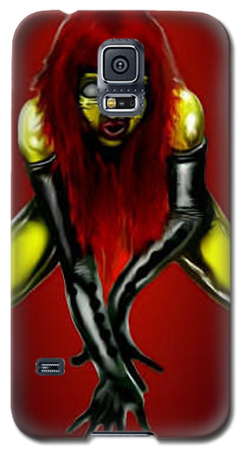 Pin-up Galaxy S5 Case featuring the digital art Crimson Gold by Will Le Beouf