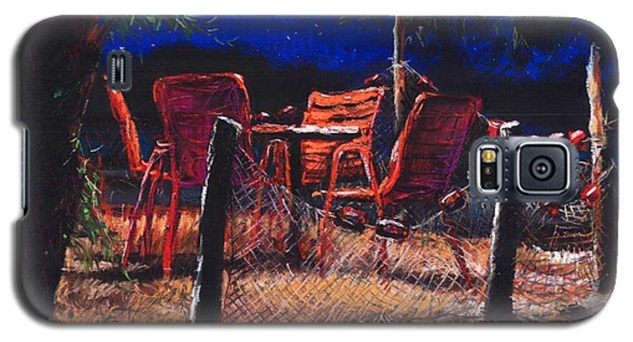 Pastel Galaxy S5 Case featuring the painting Croatia Fisherman Restaurant by Yuriy Shevchuk