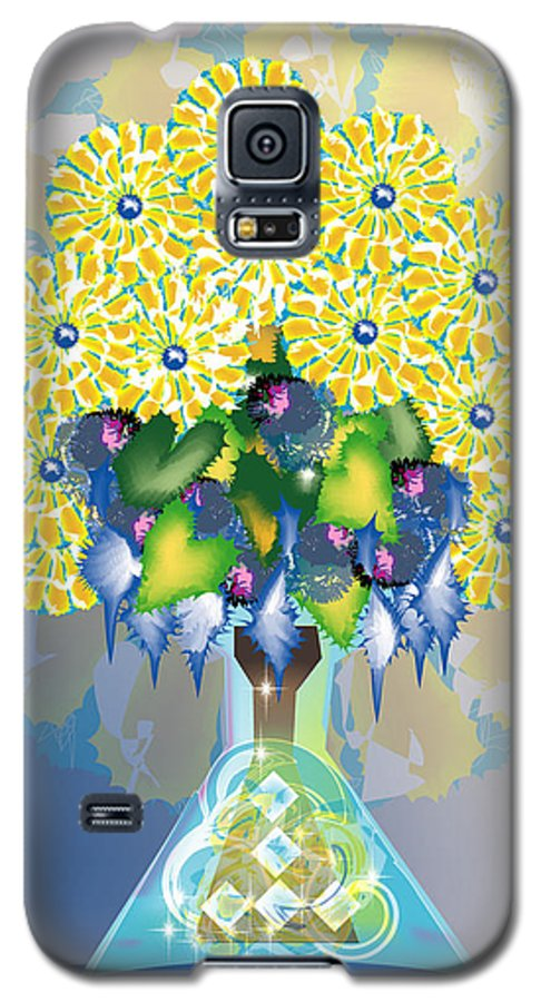 Flowers Galaxy S5 Case featuring the digital art Crystal Boquet by George Pasini