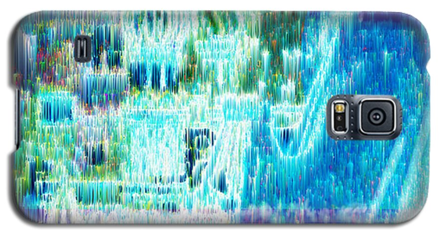 Northern Lights Galaxy S5 Case featuring the digital art Crystal City by Seth Weaver