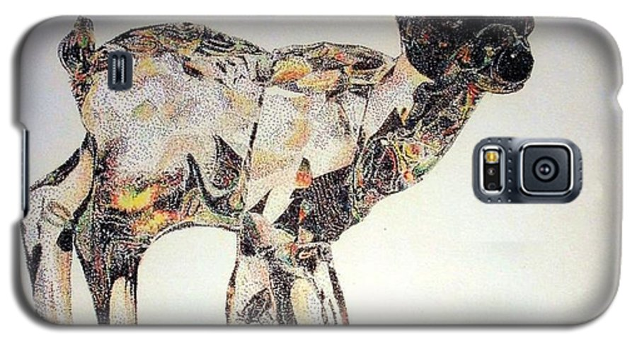 Deer Fawn Crystal Figurine Swarovsky Galaxy S5 Case featuring the painting Crystal by Tony Ruggiero