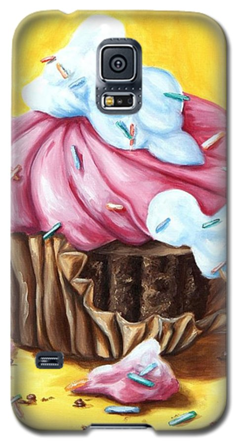 Cupcake Galaxy S5 Case featuring the painting Cupcake by Maryn Crawford
