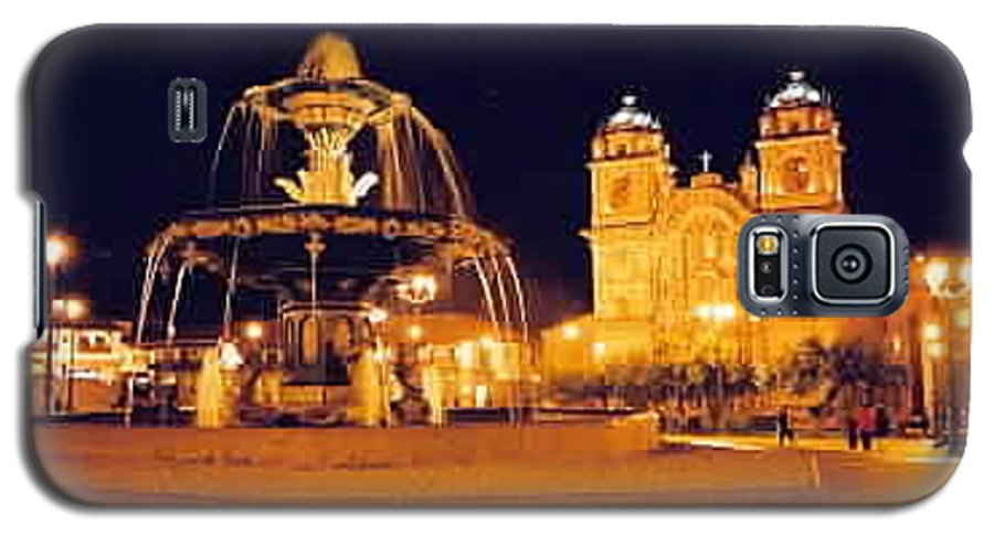 Night Galaxy S5 Case featuring the photograph Cusco Peru by Kathy Schumann