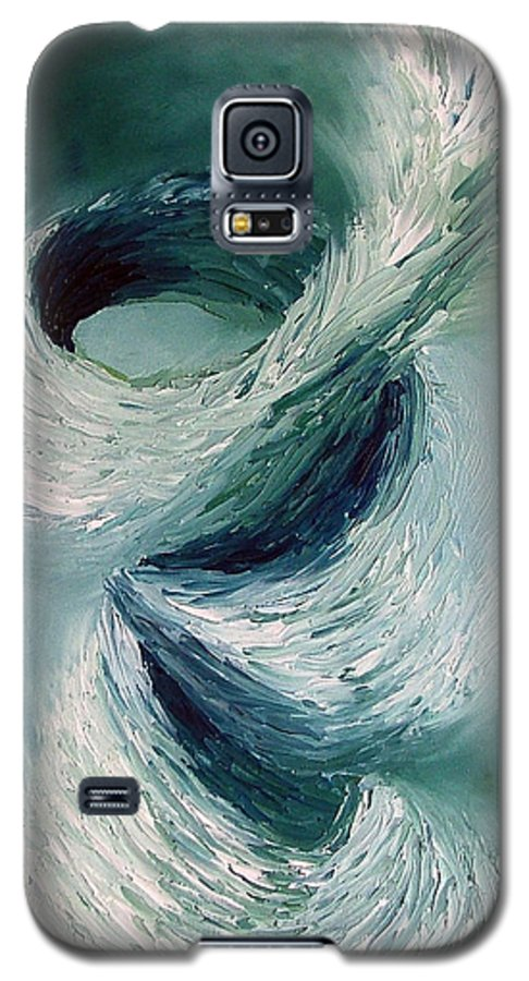 Tornado Galaxy S5 Case featuring the painting Cyclone by Elizabeth Lisy Figueroa