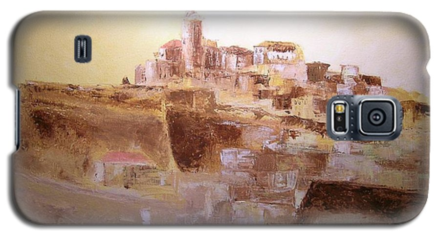 Original Cityscpae Galaxy S5 Case featuring the painting D Alt Vila Ibiza Old Town by Lizzy Forrester