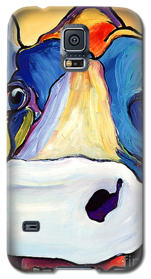Cow Print Galaxy S5 Case featuring the painting Dairy Queen I  by Pat Saunders-White
