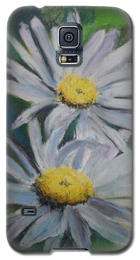 Daisies Galaxy S5 Case featuring the painting Daisies by Melinda Etzold
