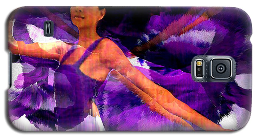 Mystical Galaxy S5 Case featuring the digital art Dance Of The Purple Veil by Seth Weaver