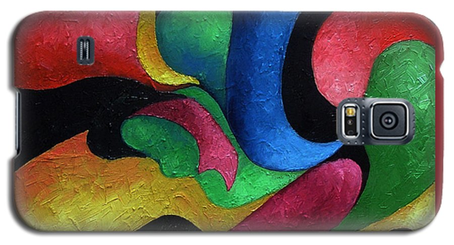 Abstract Galaxy S5 Case featuring the painting Dance With Me by Elizabeth Lisy Figueroa