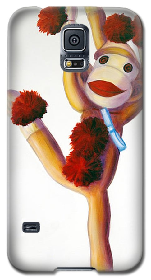 Dancer Galaxy S5 Case featuring the painting Dancer Made Of Sockies by Shannon Grissom