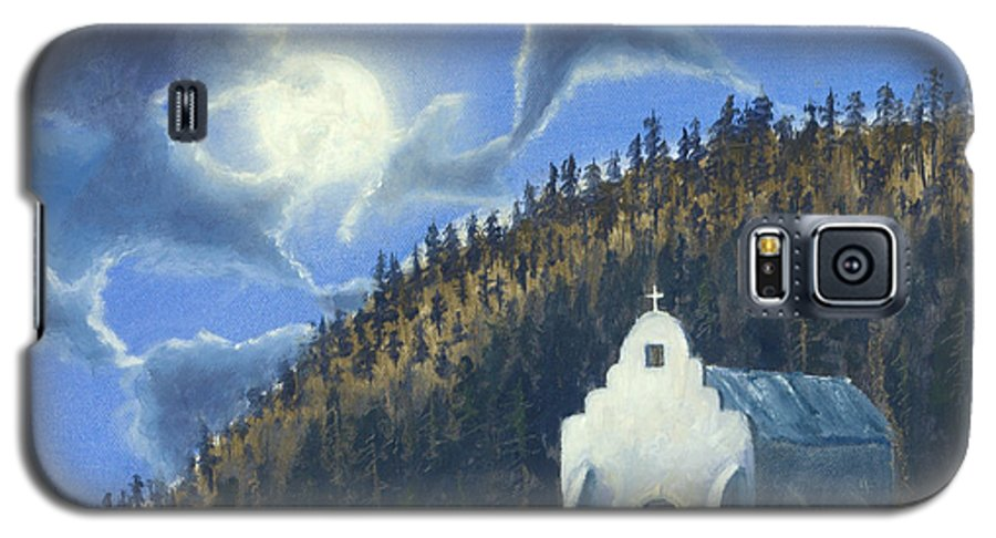 Landscape Galaxy S5 Case featuring the painting Dancing In The Moonlight by Jerry McElroy