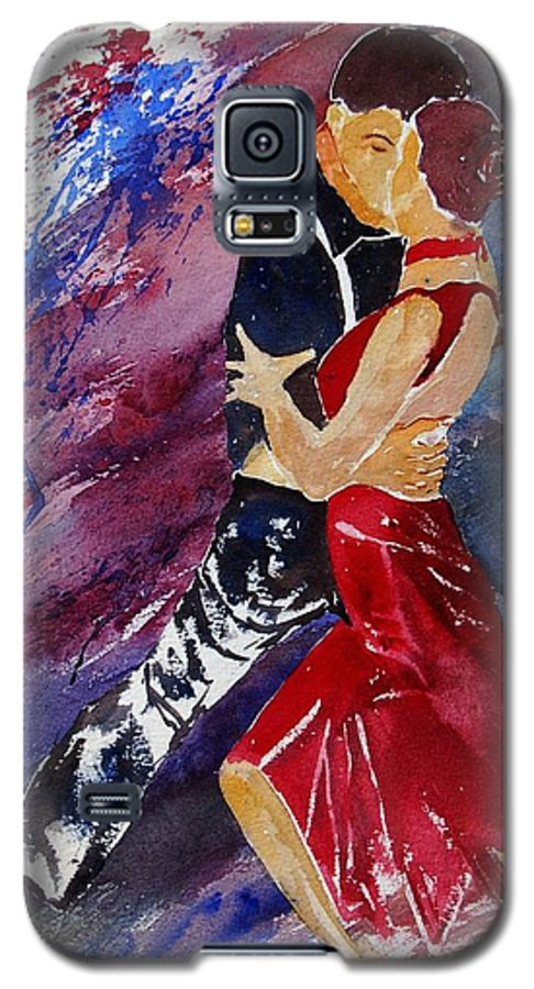 Tango Galaxy S5 Case featuring the painting Dancing Tango by Pol Ledent
