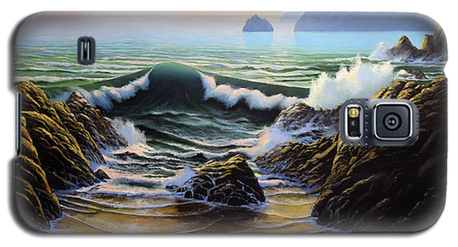 Dancing Tide Galaxy S5 Case featuring the painting Dancing Tide by Frank Wilson