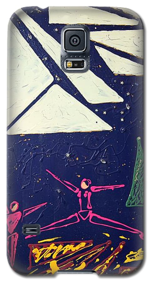Dancers Galaxy S5 Case featuring the mixed media Dancing Under The Starry Skies by J R Seymour
