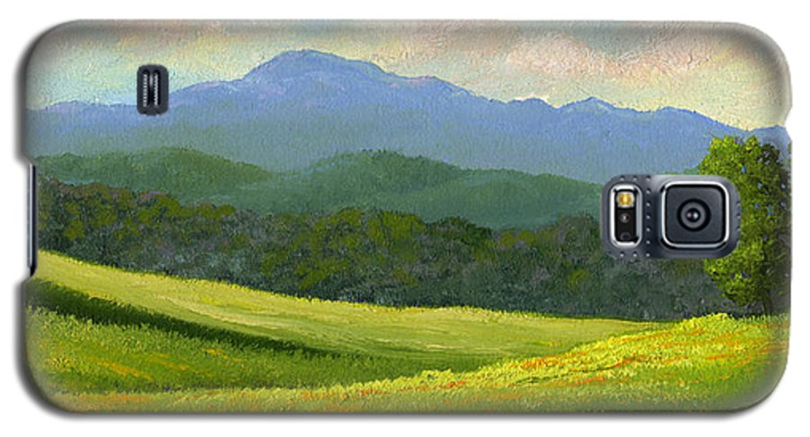Landscape Galaxy S5 Case featuring the painting Dandelion Meadows by Frank Wilson