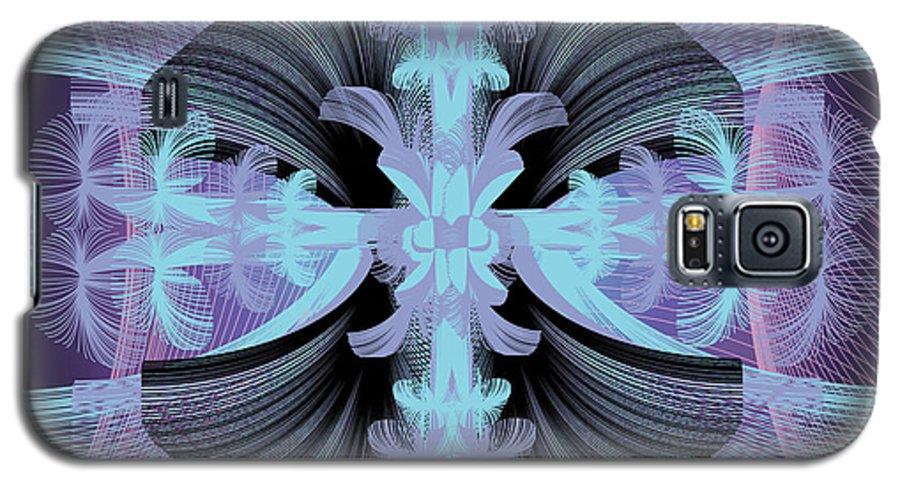 Fantasy Galaxy S5 Case featuring the digital art Dandilion Puffs by George Pasini