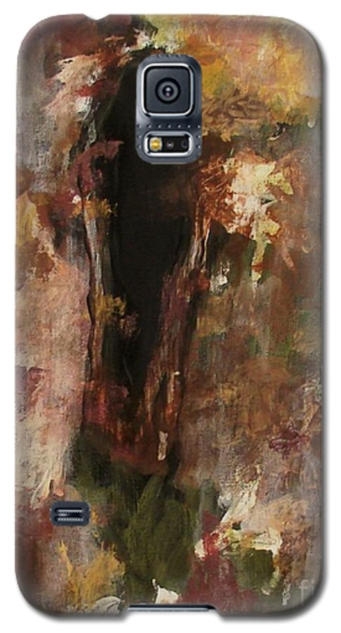 Abstract Galaxy S5 Case featuring the painting Dark Presence by Itaya Lightbourne