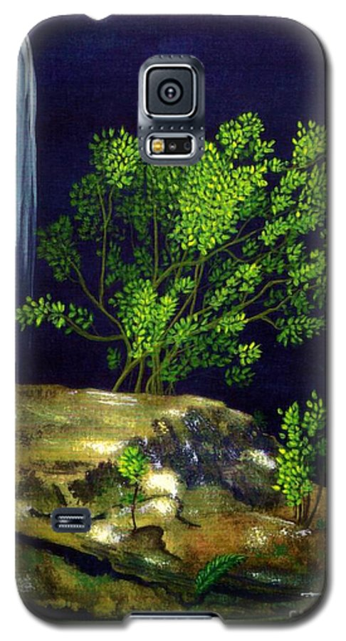 Fine Art Galaxy S5 Case featuring the painting Dark Waters by Patricia Griffin Brett