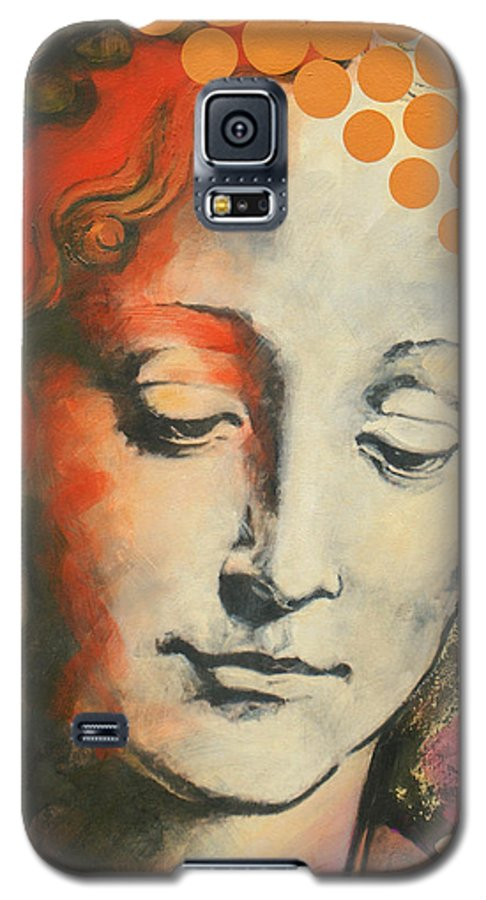 Figurative Galaxy S5 Case featuring the painting Davinci's Head by Jean Pierre Rousselet