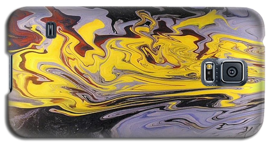 Acrylic Galaxy S5 Case featuring the painting Dawn Light by Patrick Mock