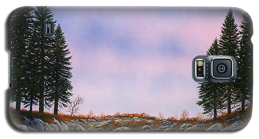 Landscape Galaxy S5 Case featuring the painting Dawn Pacific Crest Trail by Frank Wilson