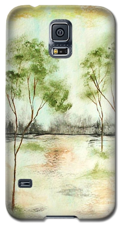 Abstract Galaxy S5 Case featuring the painting Daydream by Itaya Lightbourne
