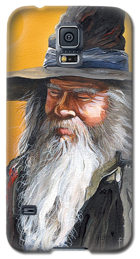 Fantasy Art Galaxy S5 Case featuring the painting Daydream Wizard by J W Baker