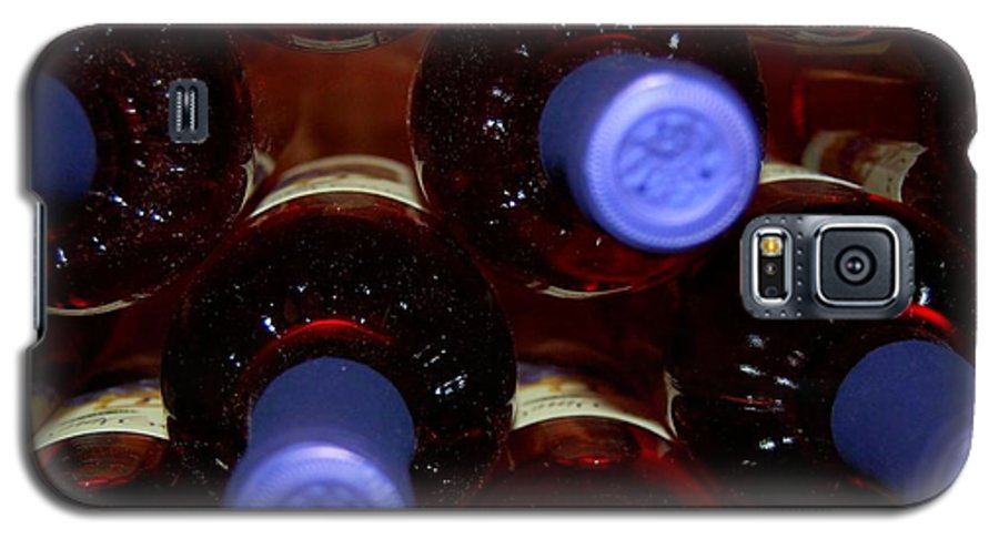 Wine Galaxy S5 Case featuring the photograph De-vine Wine by Debbi Granruth
