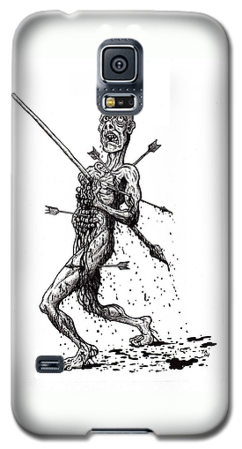 Dark Galaxy S5 Case featuring the drawing Death March by Tobey Anderson