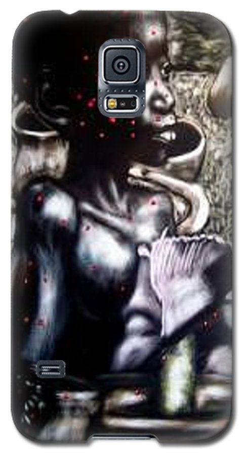Commentary Galaxy S5 Case featuring the mixed media Death Of A Thousand Cuts by Chester Elmore