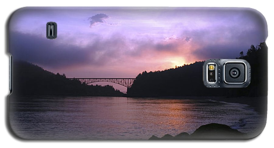 Sunrise Galaxy S5 Case featuring the photograph Deception Pass Sunrise by Idaho Scenic Images Linda Lantzy