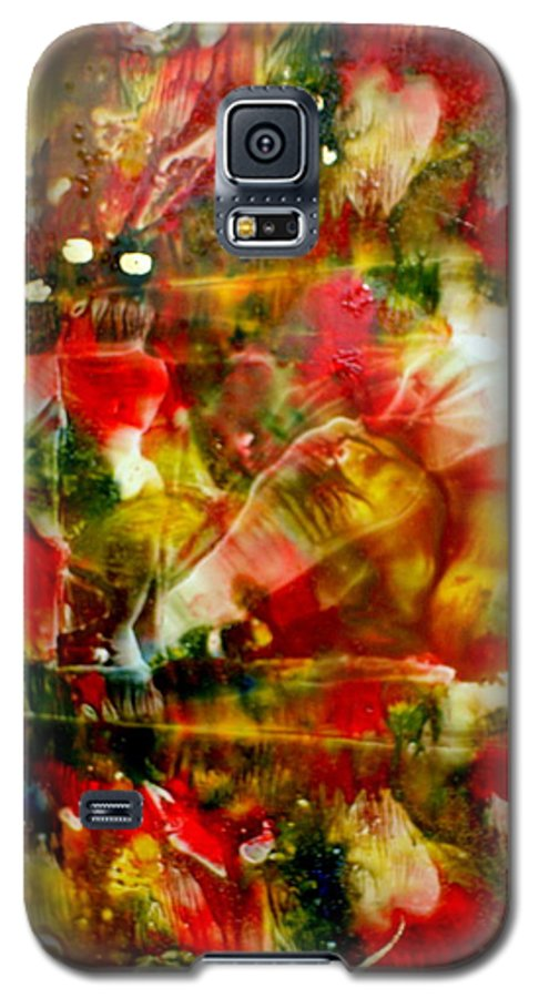 Window Galaxy S5 Case featuring the painting Deck The Halls by Susan Kubes