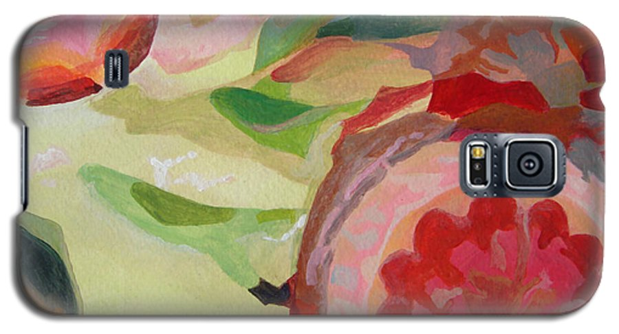 Abstract Galaxy S5 Case featuring the painting Decoupage by Muriel Dolemieux