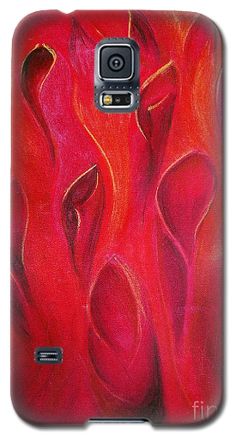 Abstract Galaxy S5 Case featuring the painting Deep Inside by Fanny Diaz