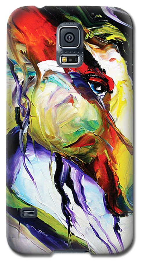 Horse Paintings Galaxy S5 Case featuring the painting Deep Memories by Laurie Pace