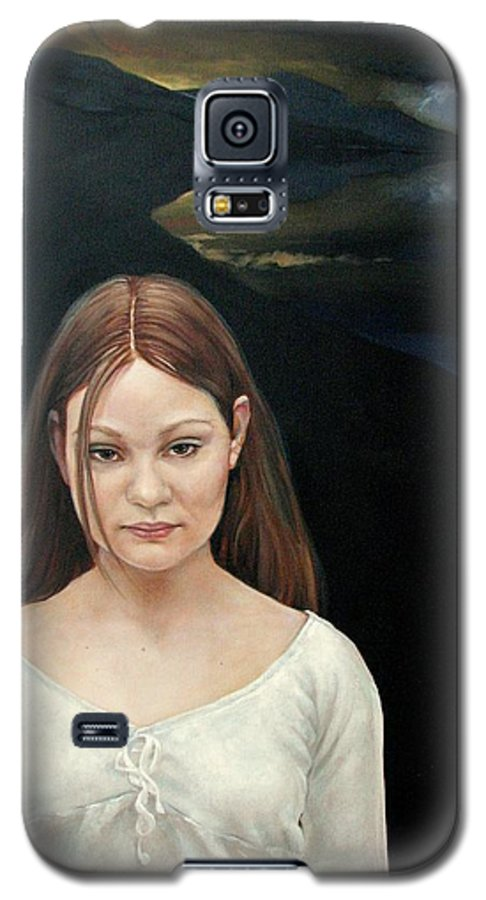 Facial Expressioin Galaxy S5 Case featuring the painting Defiant Girl 2004 by Jerrold Carton