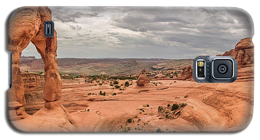 3scape Galaxy S5 Case featuring the photograph Delicate Arch Panoramic by Adam Romanowicz