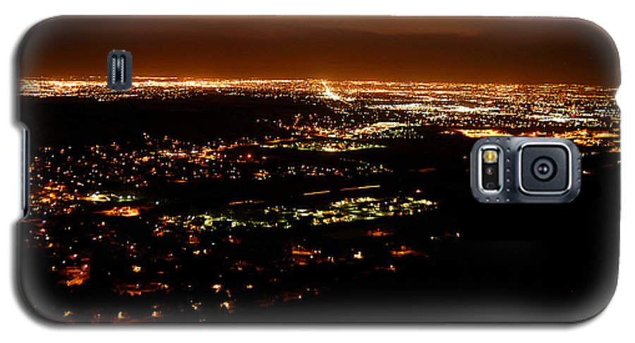 Clay Galaxy S5 Case featuring the photograph Denver Area At Night From Lookout Mountain by Clayton Bruster